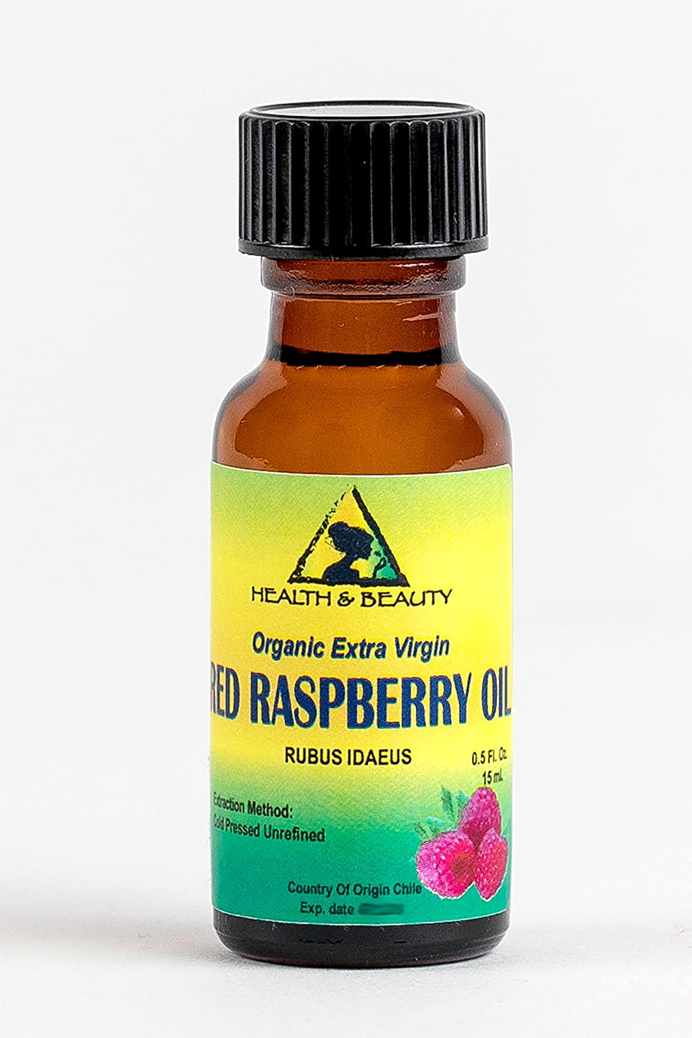 Red Raspberry Seed Oil Organic Unrefined Extra Virgin Cold Pressed Pure 0.5 oz, 15 ml in Glass Bottle H&B OILS CENTER Co.