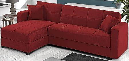 Divano Letto Angolare Rosso.Dafnedesign Com Divano Angolare Colore Rosso Dimensioni Cm