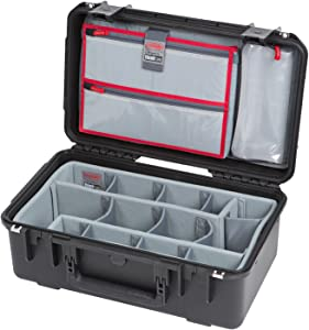 SKB Cases iSeries 2011-8 Case with Think Tank Dividers & Lid Organizer, Black (3i-2011-8DL)