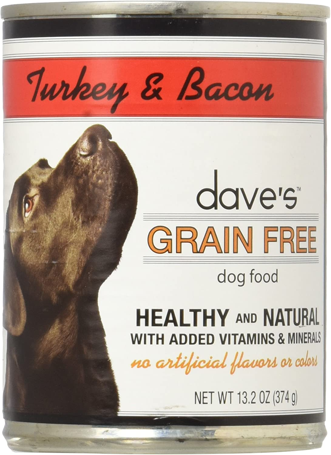 Dave'S Grain Free, Turkey & Bacon For Dogs, 13.2 Ounce (Pack of 12)
