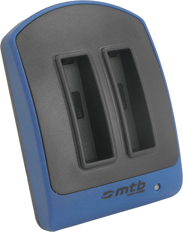 2x Akku USB 103-004 für Rollei S-50 Nitro Circus Live Edition Dual-Ladegerät