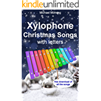 Xylophone Christmas Songs: with letters book cover