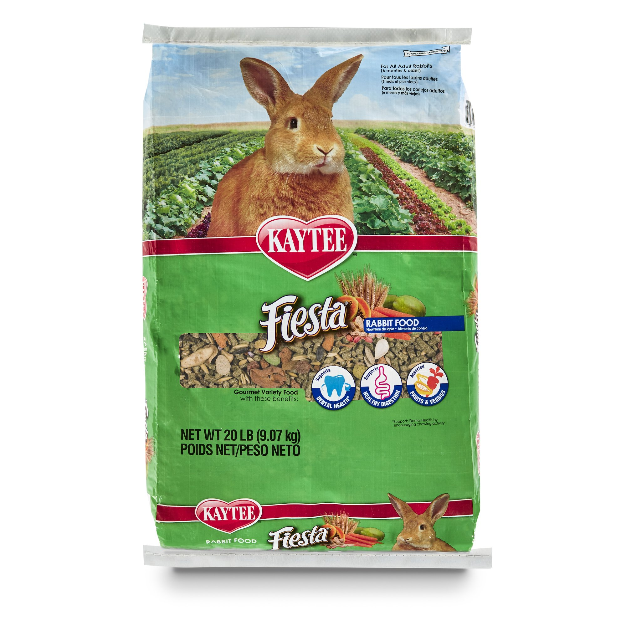 Kaytee Fiesta Rabbit Food, 20 lb