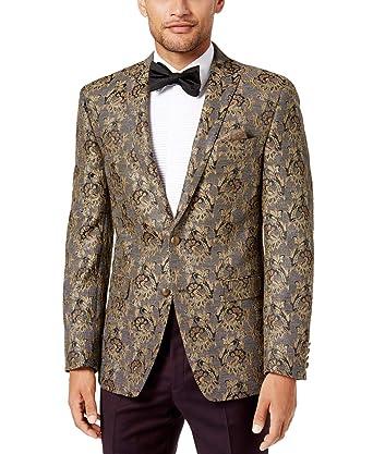 newest fantastic savings designer fashion Amazon.com: Tallia Men's Slim-Fit Floral Brocade Peak-Lapel ...