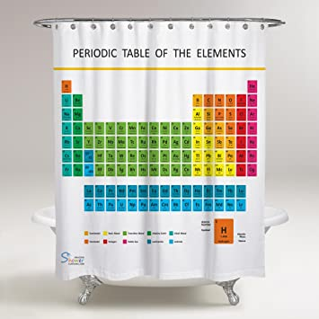 Amazon.com: Amazing Shower Curtains - Updated 2017 Periodic Table ...