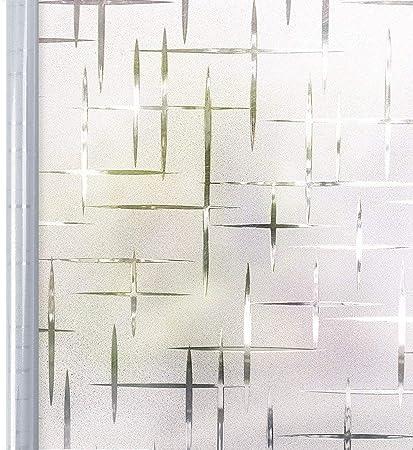 Homein Vinilo Ventana Electroestatico Vinilos Cristales para Privacidad Película Adhesiva Deslustrado Sin Pagamento Facíl Desmontar y Reutilizar Motivo Cruz de Baño Cocina Oficina Anti UV 44.5*200cm: Amazon.es: Hogar