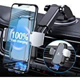 VICSEED Wireless Car Charger, Newest 10W Qi Fast Charging Auto-Clamping Car Phone Mount Wireless Charger Dashboard Air…