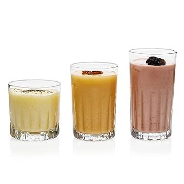 Libbey Brockton 24-Piece Tumbler, Rocks and Juice Glass Set
