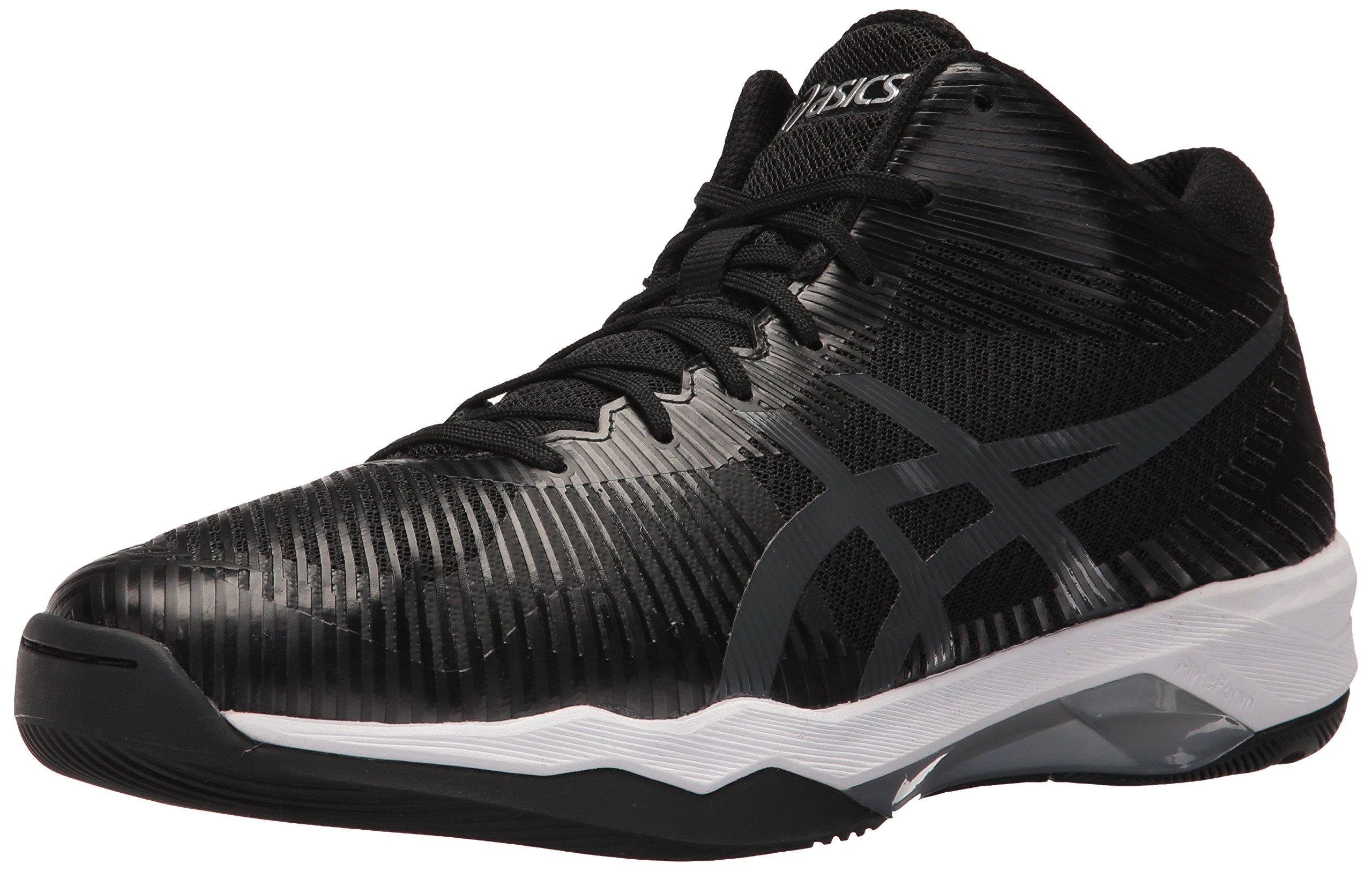 ASICS Mens Volley Elite FF MT Volleyball Shoe, Black/Dark Grey/White, 10 Medium US by ASICS
