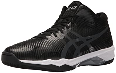 ASICS Men's Volley Elite FF MT Volleyball Shoe, Black/Dark Grey/White,