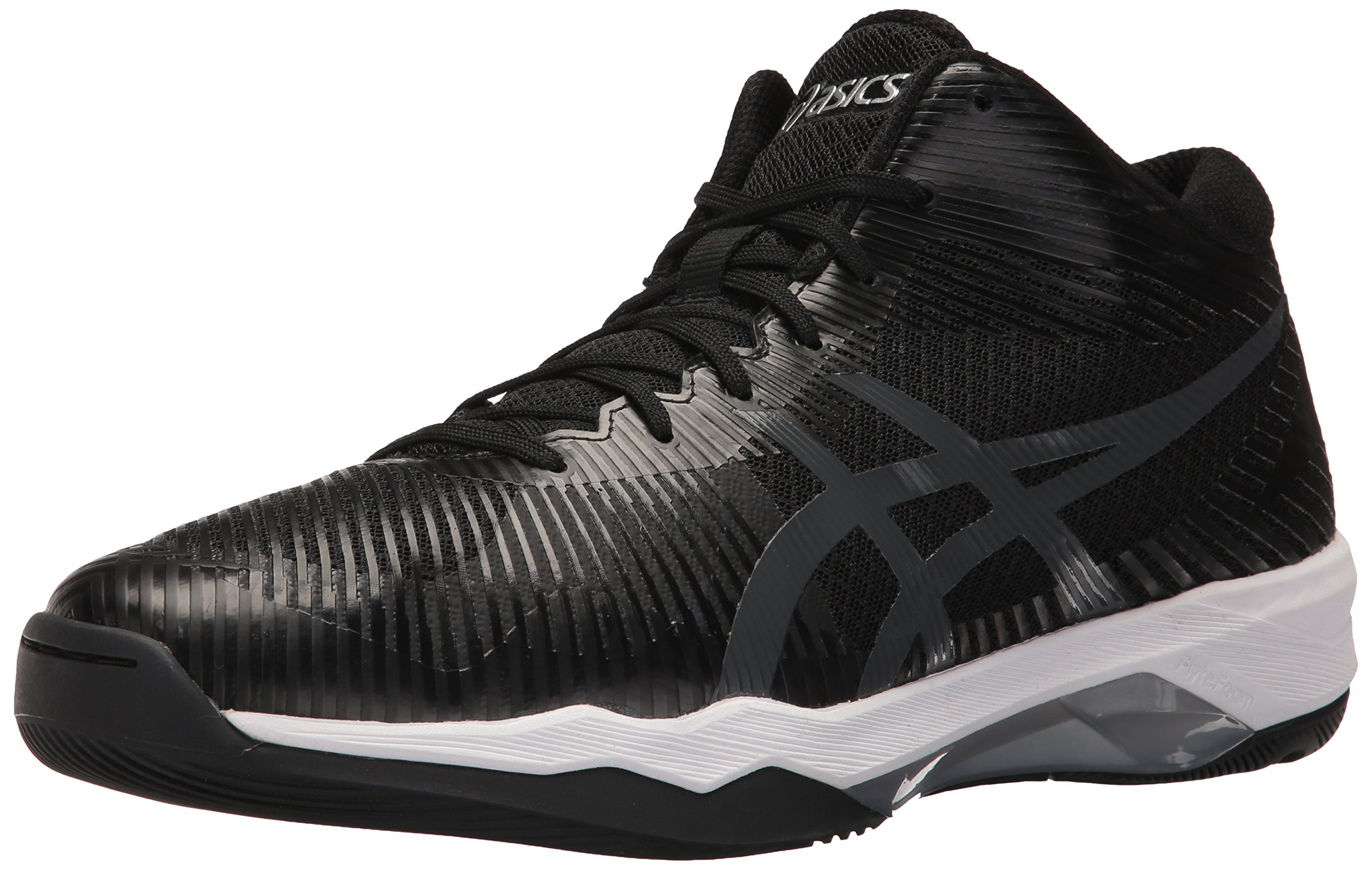ASICS Men's Volley Elite FF MT Volleyball Shoe, Black/Dark Grey/White, 6.5 Medium US