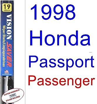 Amazon.com: 1998 Honda Passport Wiper Blade (Passenger) (Saver Automotive Products-Vision Saver): Automotive