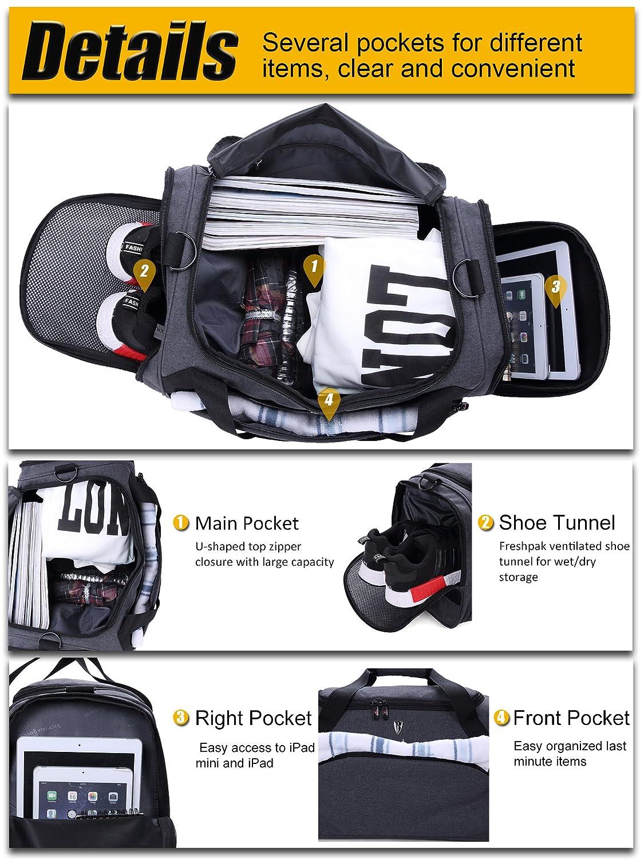 Black Victoriatourist V7005 Duffle Bag for Business Travel Sport Gym Weekend Duffel 7010GR