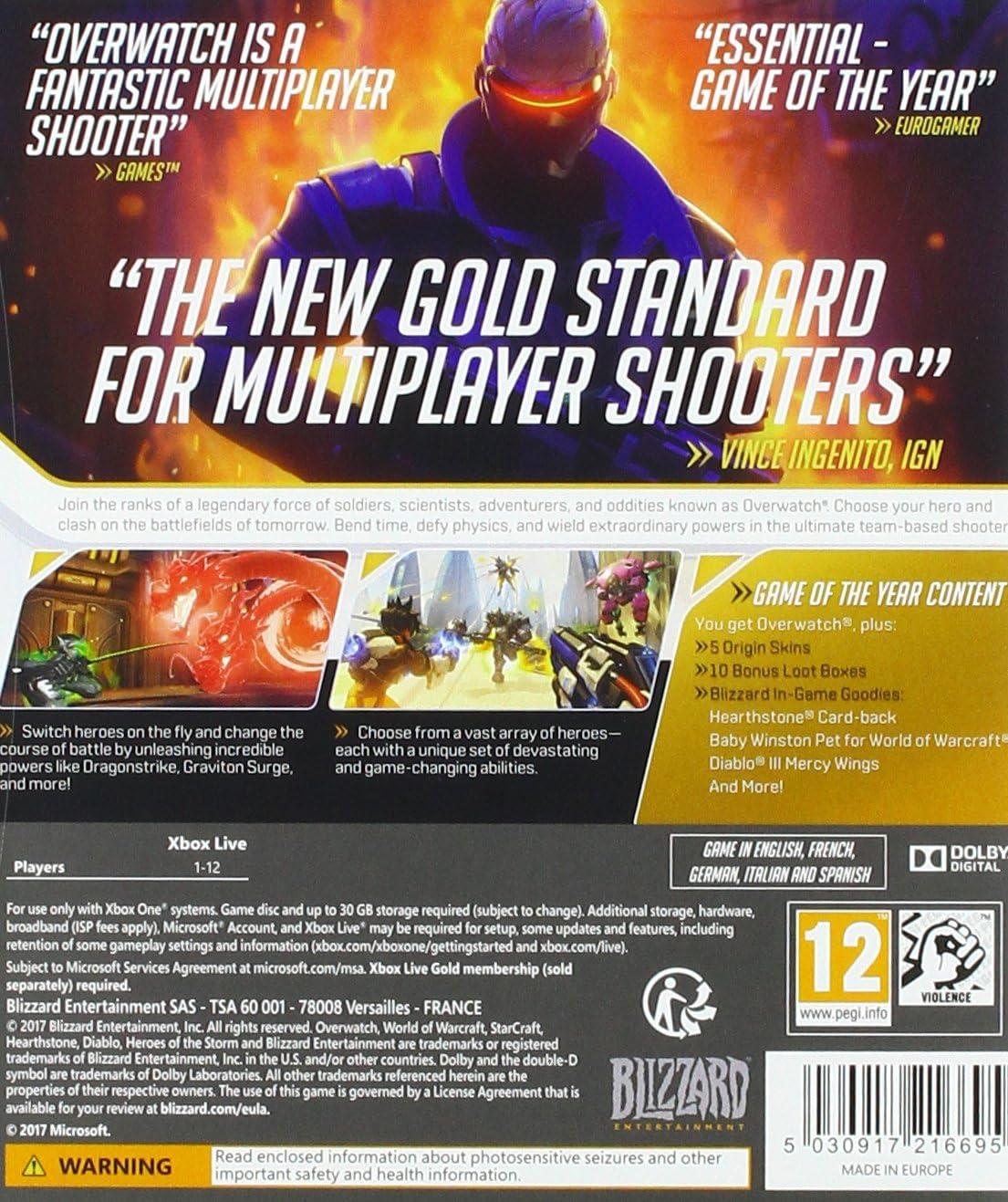 Overwatch Game of the Year Edition - Xbox One [Importación inglesa]: Amazon.es: Videojuegos