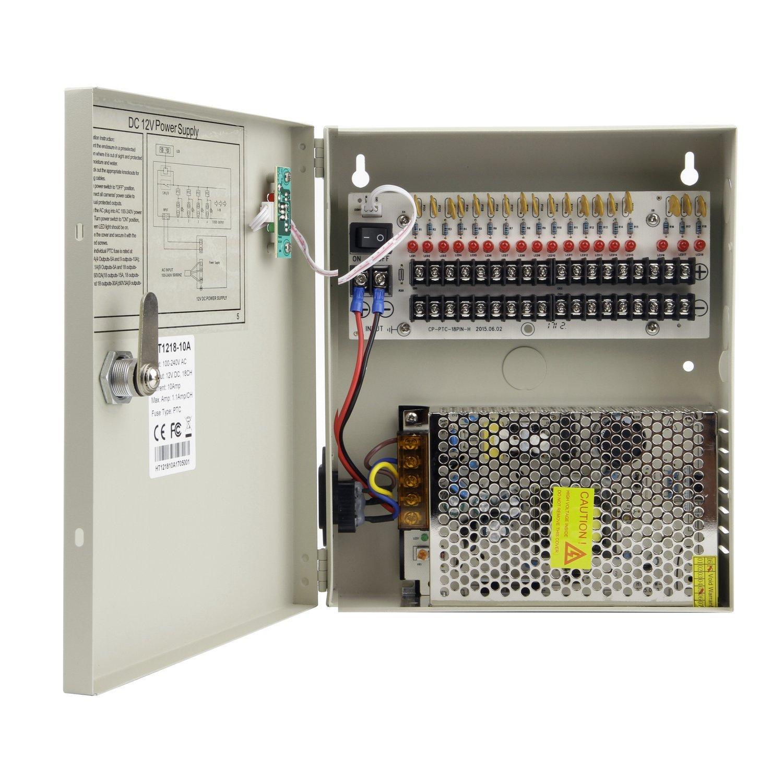 galleon xenocam 18 channel port 12v dc 10 amp amper with ptc fuse