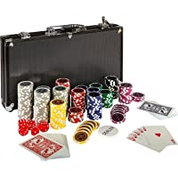 Maxstore Ultimate Black Edition Poker Set, 300 Chips
