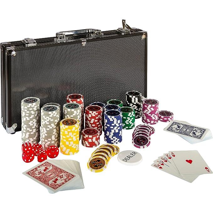 2 opinioni per Ultimate Black Edition Poker Set, 300di alta qualità 12grammi metallo Nucleo