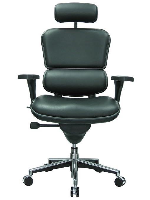 Ergohuman Ergonomic Executive Leather Chair Black
