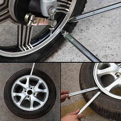 Magiin Desmontadores de Neumáticos 3 Pcs Herramientas de Palanca de Neumáticos Desmontables de Hierro Cambiador de Neumáticos Llantas Motocicleta Moto