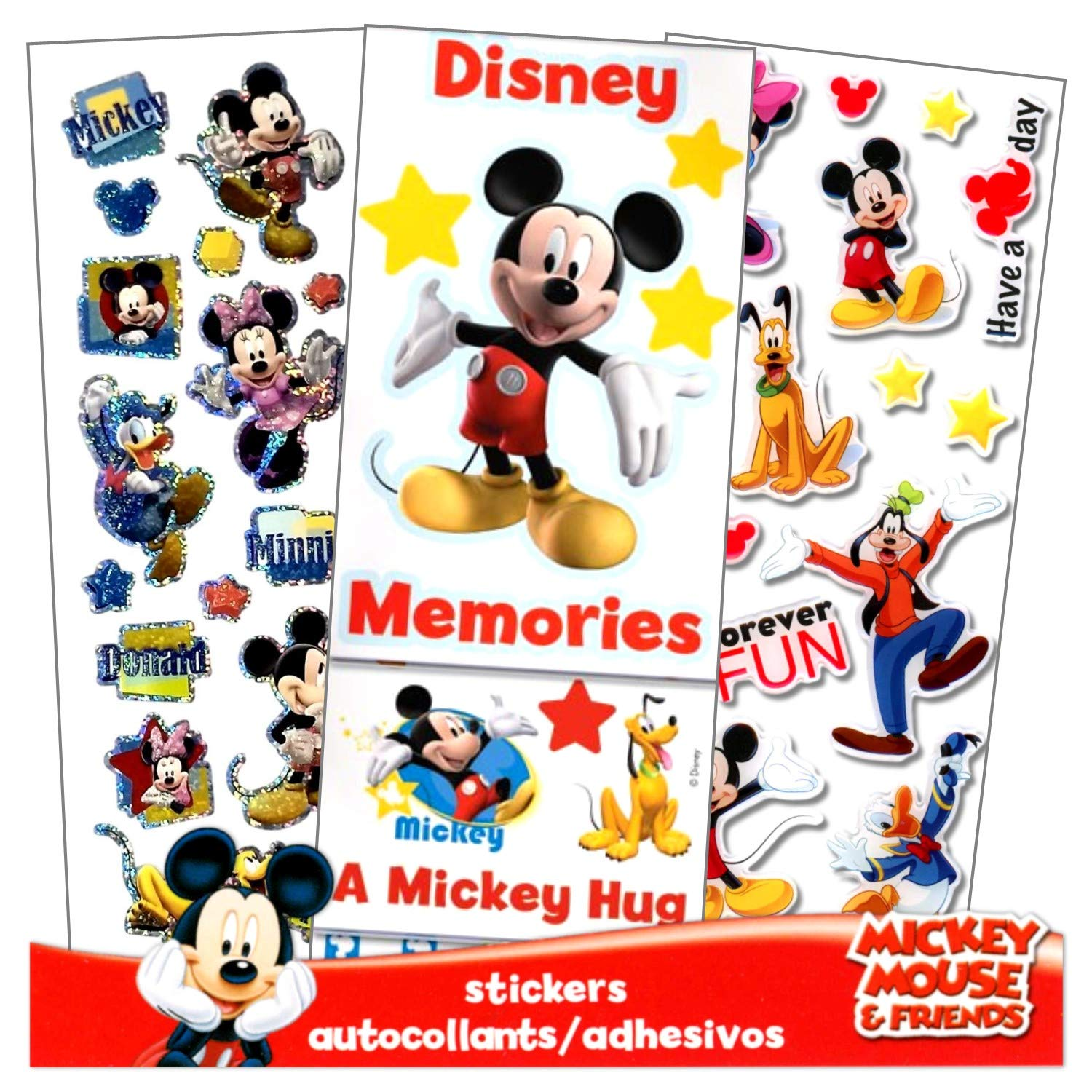 Mickey And Minnie Mouse Stickers.Disney Mickey Mouse And Minnie Mouse Stickers