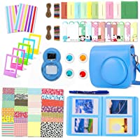 Leebotree Camera Accessories Compatible with Instax Mini 9 or Mini 8 8+ Include Case/Album/Selfie Lens/Filters/Wall Hang Frames/Film Frames/Border Stickers/Corner Stickers (Cobalt Blue)