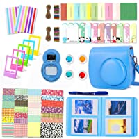 Leebotree Camera Accessories Compatible with Instax Mini 9 or Mini 8 8+ Include Case/Album/Selfie Lens/Filters/Wall Hang Frames/Film Frames/Border Stickers/Corner Stickers/Pen (Cobalt Blue)