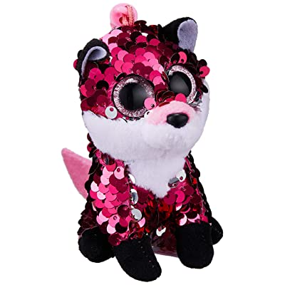 Stuffems Toy Shop Ty Flippables Sequin Plush - Jewel The Fox (Plastic Key Clip - 3.5 inches): Toys & Games