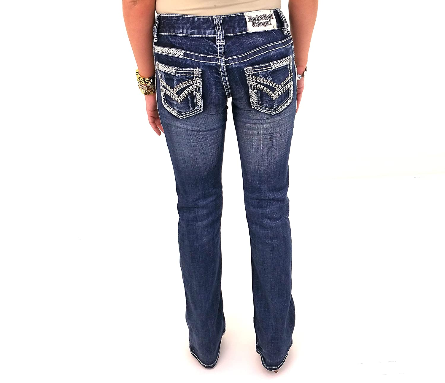 Rock and Roll Cowgirl W0-3686 Lowrise Bootcut Denim