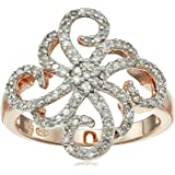 18k Rose Gold Over Sterling Silver Diamond Ring (1/2cttw, I-J Color, I2-I3 Clarity), Size 7