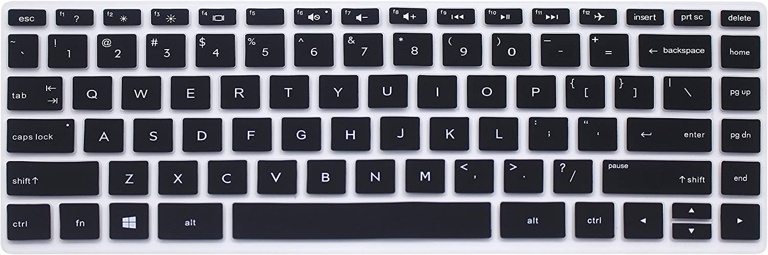 Silicone Keyboard Cover Skin for 14 inch HP Pavilion x360 14M-BA Series 14M-BA011DX 14M-BA013DX 14M-BA015DX 14M-BA114DX, HP 14-BW Series 14-BW006NR 14-BW010NR 14-BW065NR 14-BK061ST (Black)