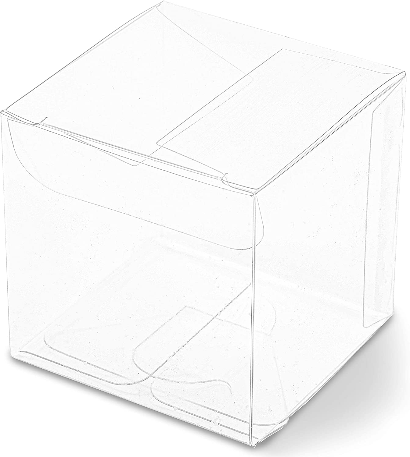 2 Inch Clear Candy Gift Box, Small Transparent Boxes for Party Favors (100 Pack)