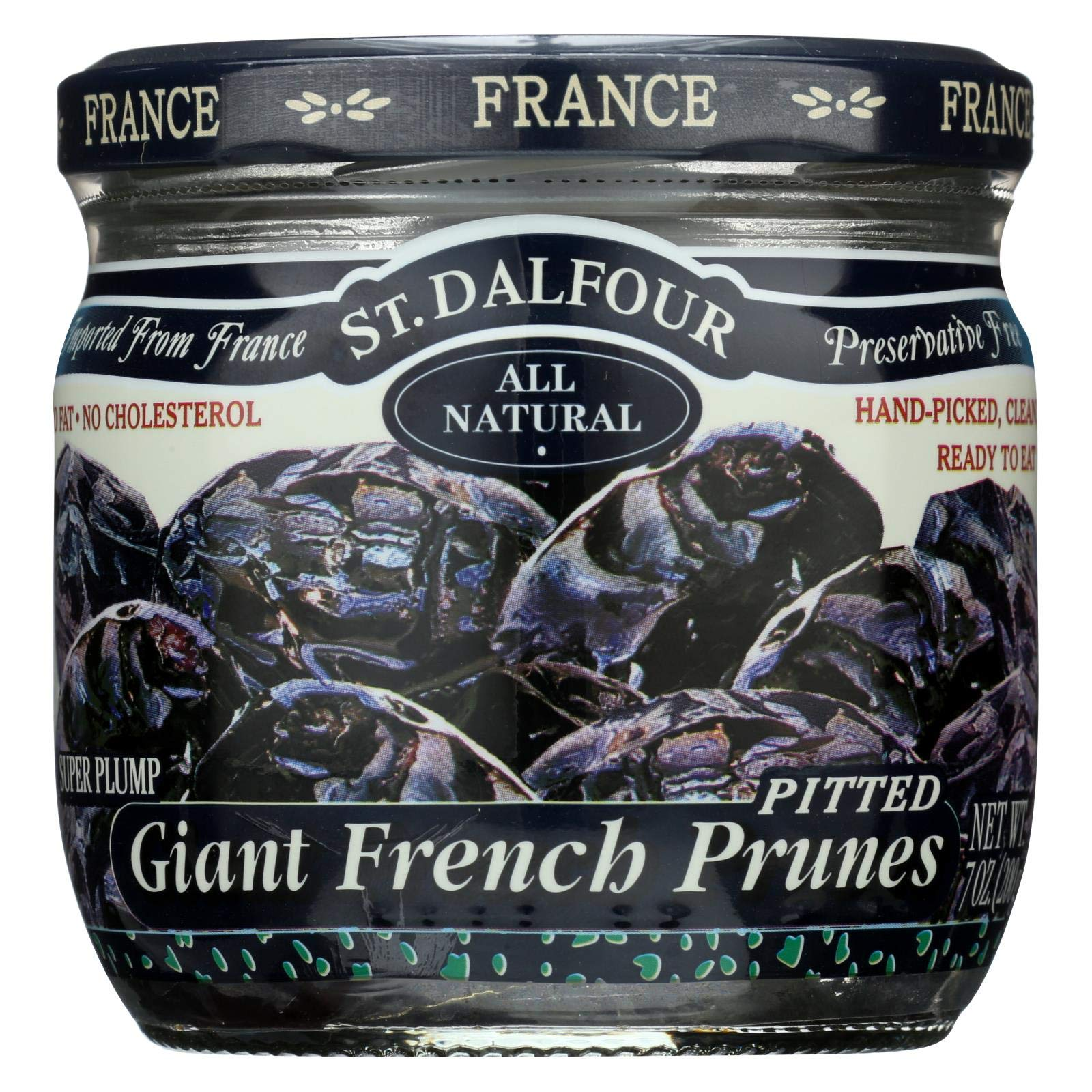 St Dalfour Prunes - French - Giant - Pitted - 7 oz - Case of 6 by St. Dalfour
