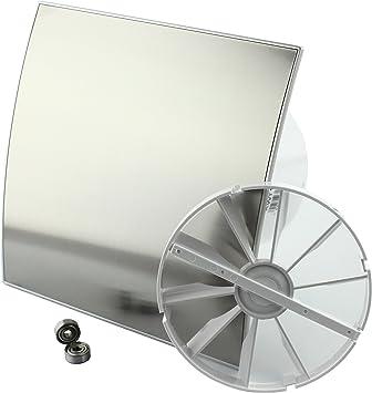 DUO Design Badl/üfter Wandl/üfter Turbo Ventilator R/ückstauklappe Kugellager Standard /Ø 100 mm Chrom//Spiegel 18153-007 MKK