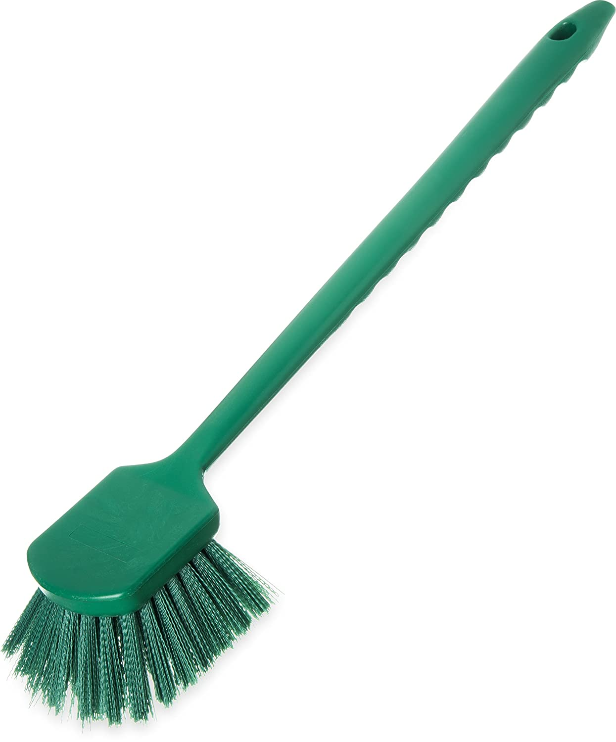 Carlisle 40501C09 Commercial Utility Scrub Brush Polyester Bristles 20 x 3 Green Pack of 6