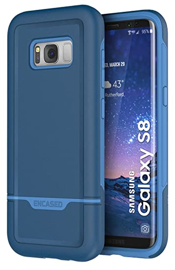 release date c0530 5beef Galaxy S8 Case Blue - Encased Rebel Series Impact Armor (Samsung S8) Navy  Blue