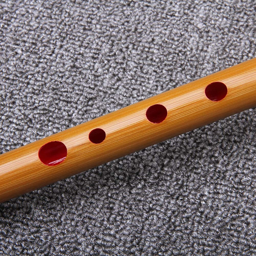 Guanso Shinobue Bamboo Flute Dizi Llave de una Sola secci/ón de D E F Bamb/ú Amargo de Cinco a/ños Color : D Key