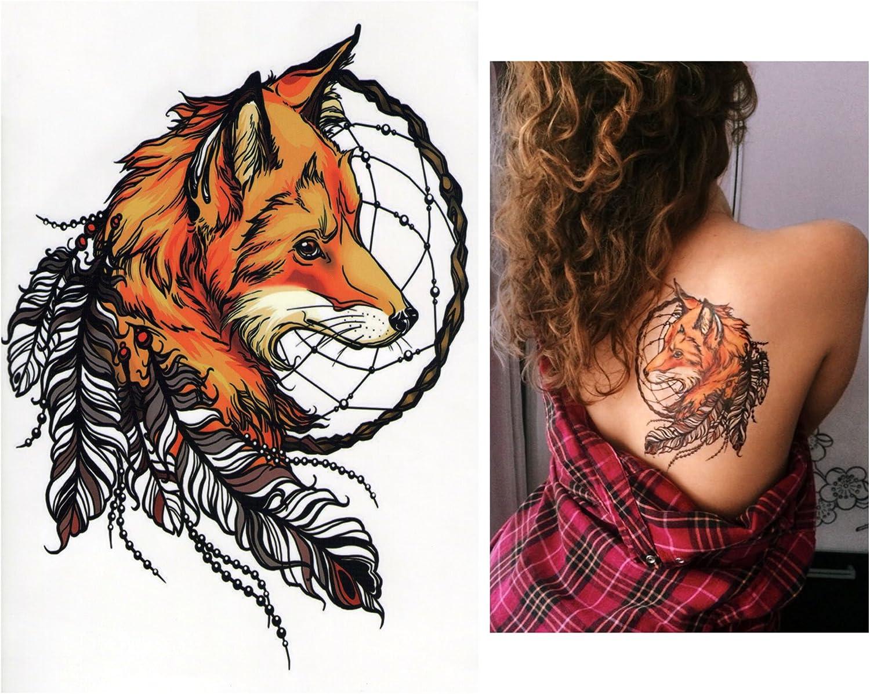 Tatuajes temporales Tempo rary Tattoo Fake Tattoo – zorro de ...