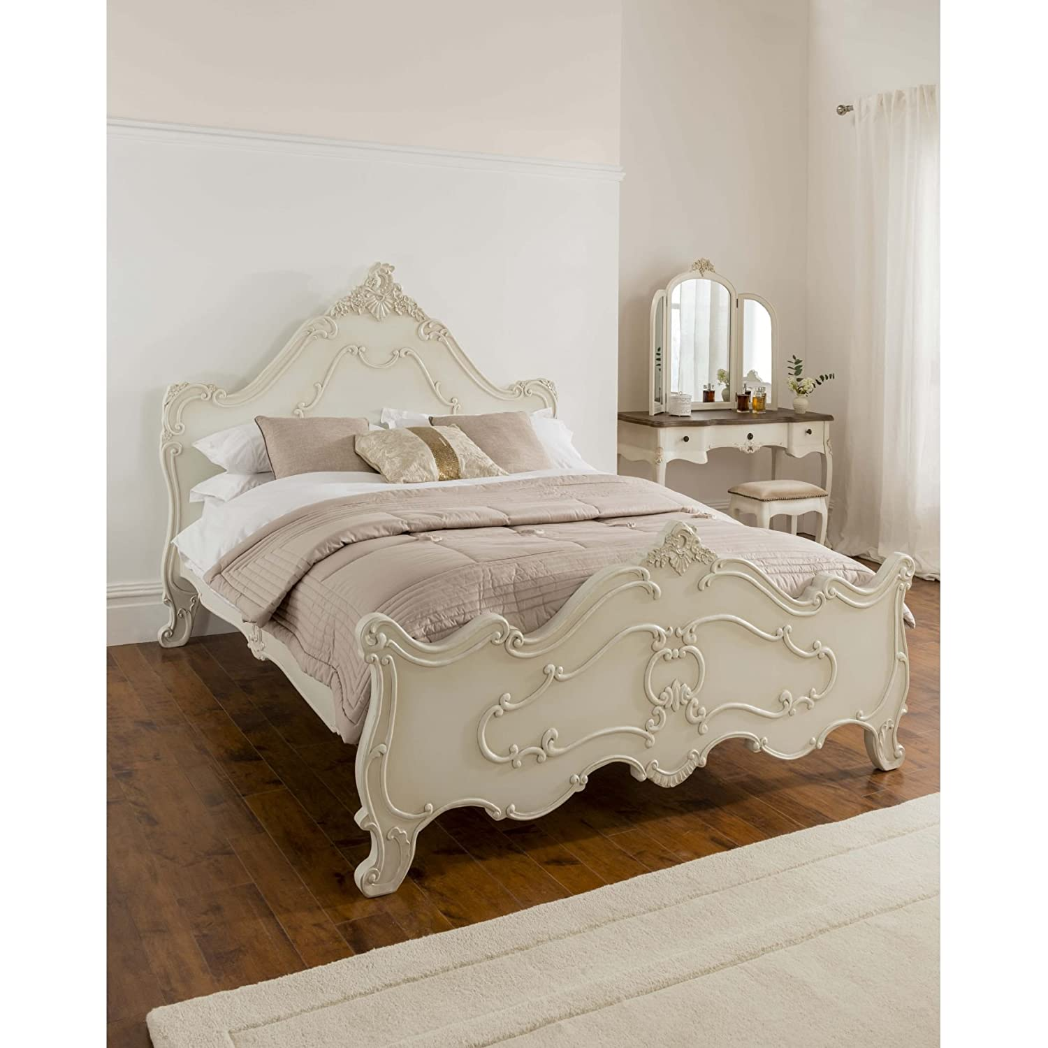 Silver Leaf Bedroom Furniture French Style Bedroom Furniture Ornate Royal Carved Silver Leaf Bed