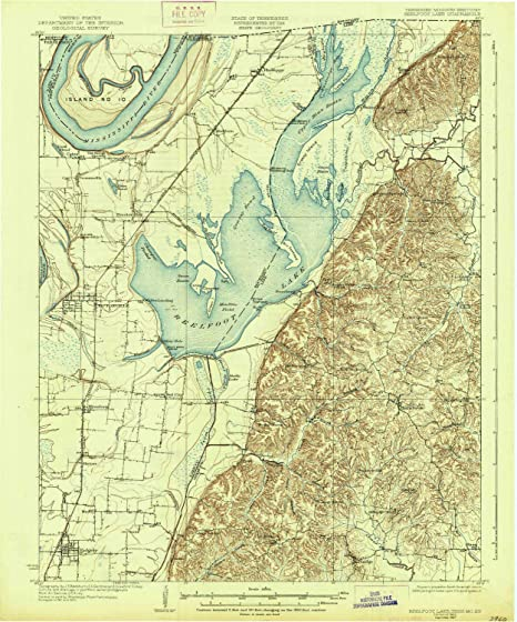 Amazon com: Reelfoot Lake TN topo map, 1:62500 Scale, 15 X 15 Minute