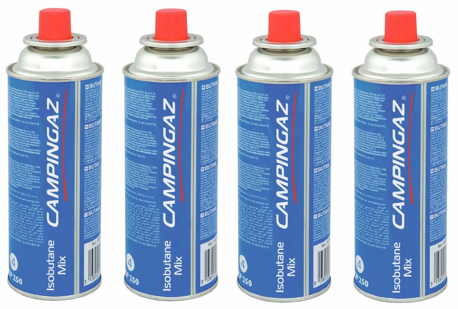8 X Campingaz CP250 Resealable Bistro Gas Cartridge - 250g cp250x2