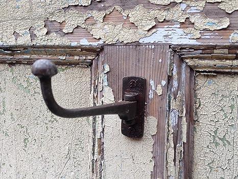Estilo antiguo gancho giratorio de hierro fundido armario utilidad de gancho sombrero y abrigos