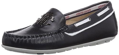 Roberto Cavalli Junior MOCCASIN - mocasines de cuero niño, color azul, talla 40: Amazon.es: Zapatos y complementos