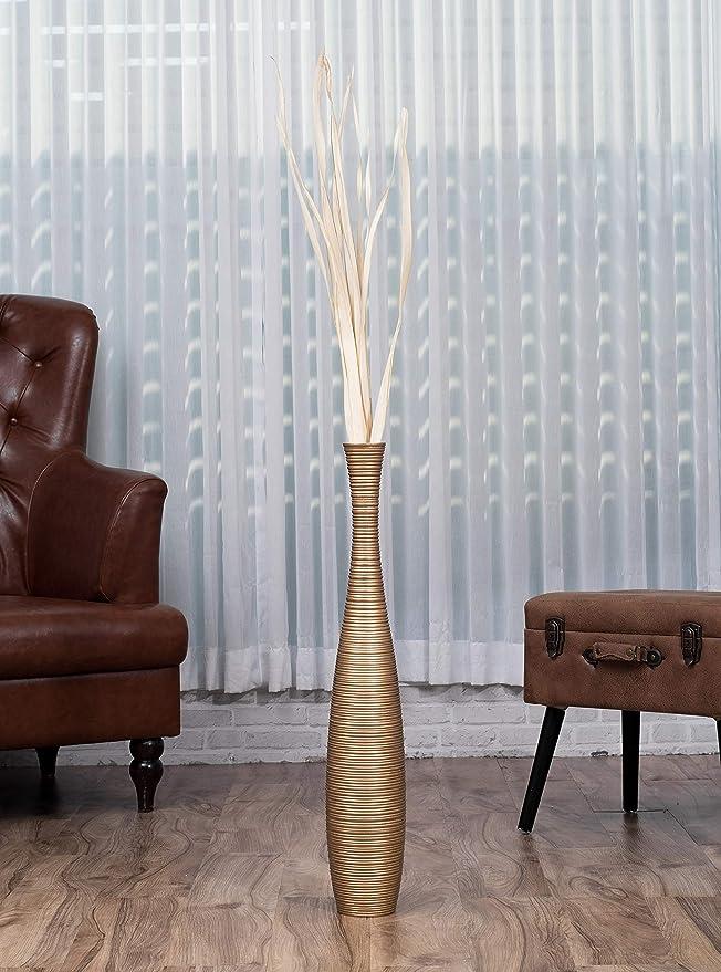 Amazon.com: Jarrón de piso Alto 30 inches, madera, Oro ...