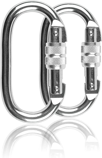 Rock Climbing 304 Stainless Steel Safety Carabiner Hook Quick Hitch 2.4in
