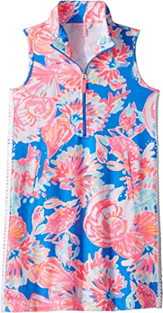 4f553c07844cf1 Lilly Pulitzer Kids Baby Girl's Mini Sleeveless Skipper Shift Dress (Toddler /Little Kids/
