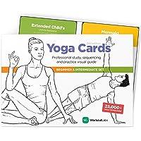 WorkoutLabs YOGA CARDS I & II – Complete set Beginners & Intermediate: Professionele visuele studie, Klasse Sequencing…