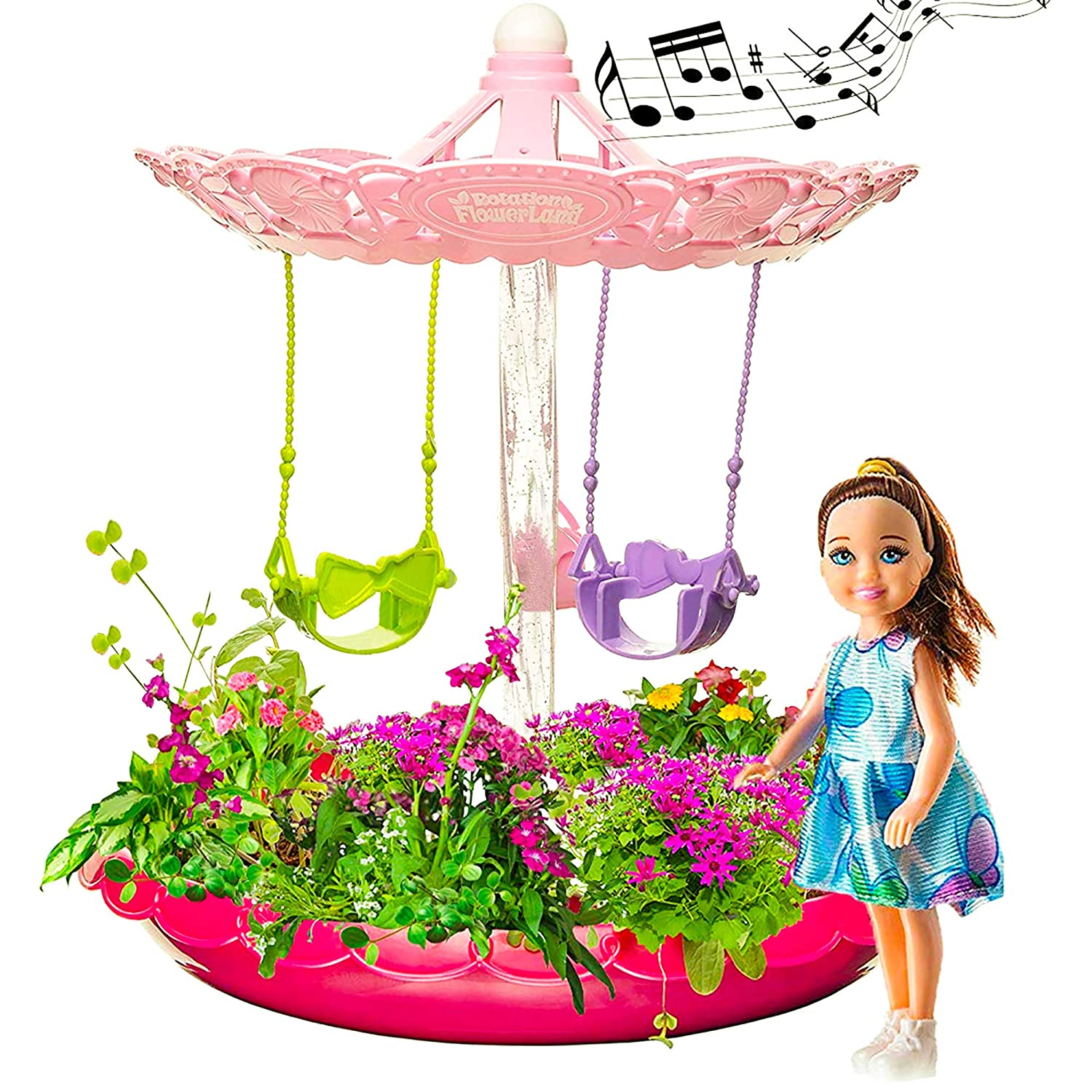 Best DIY Gift for 3-8 Years Old Gardening Kit with Lights /& Music Fairy Garden Kit for Girls with Fairies Pink with Fairies Complete Garden Starter Kit Craft /& Grow Your Own Garden Indoor