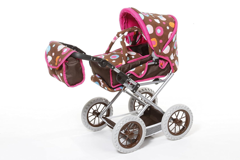 Knorrtoys 63113 – Carrito de bebé de Juguete, marrón Estampado