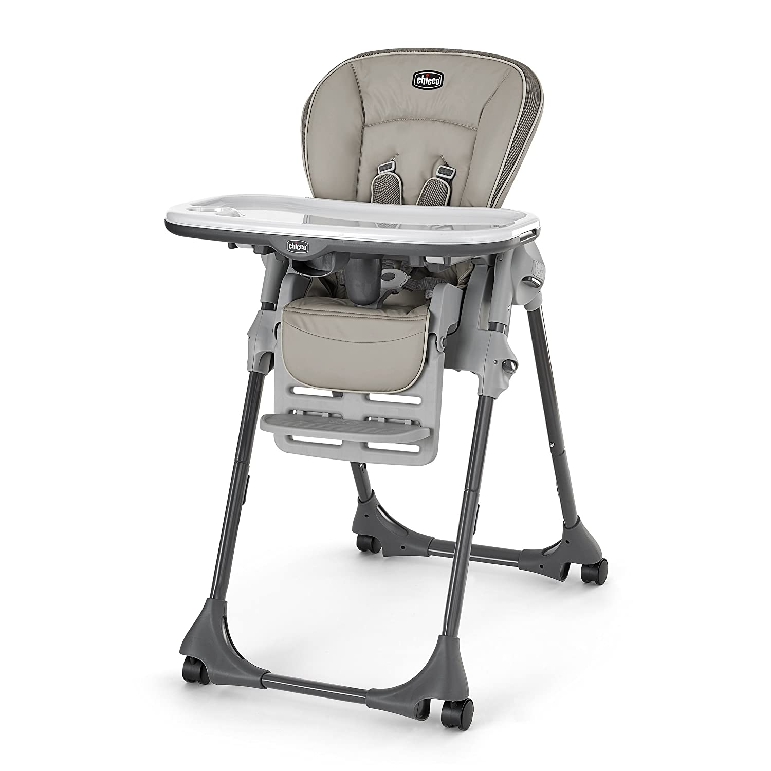 Space saver high chair boy - Chicco Vinyl Polly High Chair Papyrus