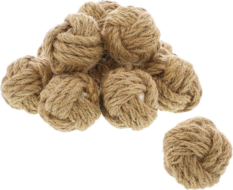 Bright Creations Jute Burlap Craft Rope Ball Decor (12 Count)